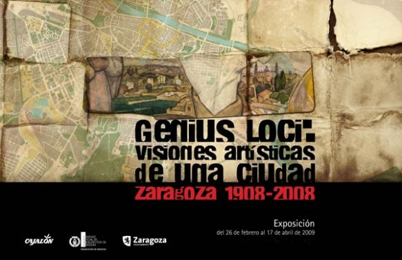 Cartel de la exposición Genius Loci: visiones artísticas de una ciudad.