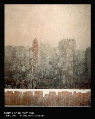 Bruma en la memoria. Técnica mixta sobre lienzo. 73x60 cm.