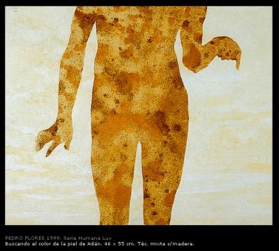 Buscando el color de la piel de Adán. 46x55 cm.