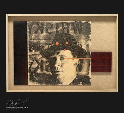 Callejón de malta. Monotipo, pintura y collage sobre madera. 43x63 cm.