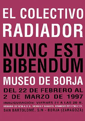 Cartel de la exposición Nunc est bibendum. Museo de Borja (Zaragoza).