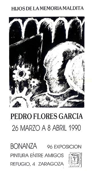 Cartel de la exposición en Sala Bonanza, Zaragoza.