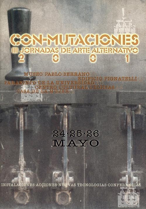 Cartel Con-mutaciones 2001.