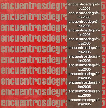 Portada del catálogo Encuentros de gráfica 2005.