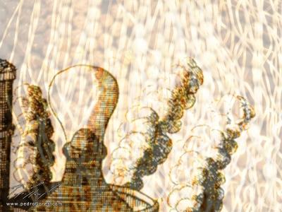 Condensación. Collage digital.