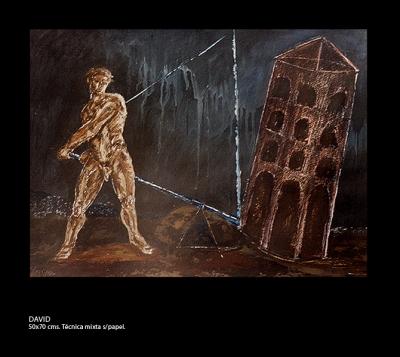 David # 1.Técnica mixta sobre papel. 50x70 cm.