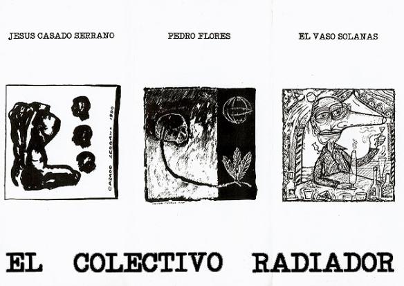 Diptico de la exposición Cabezas, Vasos, Hojas.