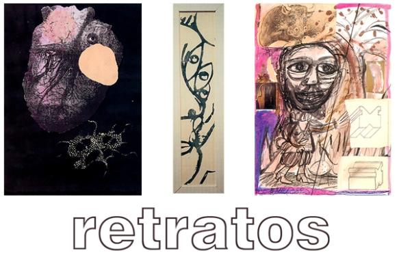Ilustraciones del diptico de la exposición Retratos. Sala Juana Francés. Ayto. Zaragoza.
