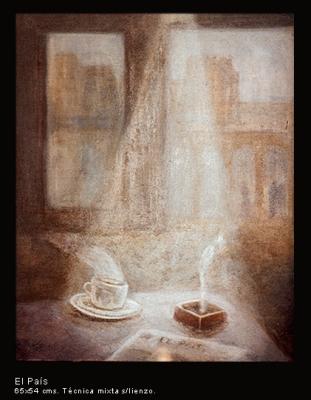 El País. Técnica mixta sobre lienzo. 65x54 cm.