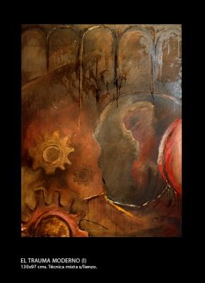 El trauma moderno # 1. Técnica mixta sobre lienzo. 130x97 cm.