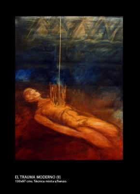 El trauma moderno # 2. Técnica mixta sobre lienzo. 130x97 cm.