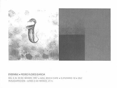 Invitación de la exposición Ensemble en Sala Azul, Zaragoza.