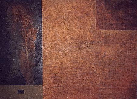 Pequeña libertad. Técnica mixta sobre lienzo. 97x130 cm. Obra propiedad Ayto. de Tauste.
