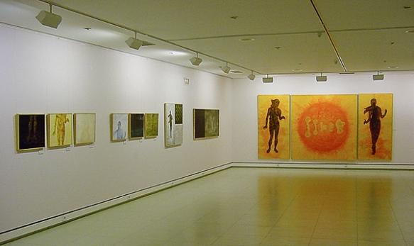 Vista exposición Humana Lux. C.C. Ibercaja Zaragoza.