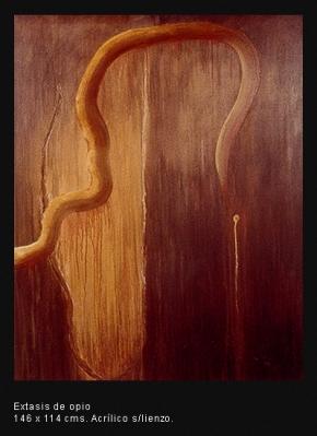 Extasis de opio. Acrílico sobre lienzo. 146x114 cm.
