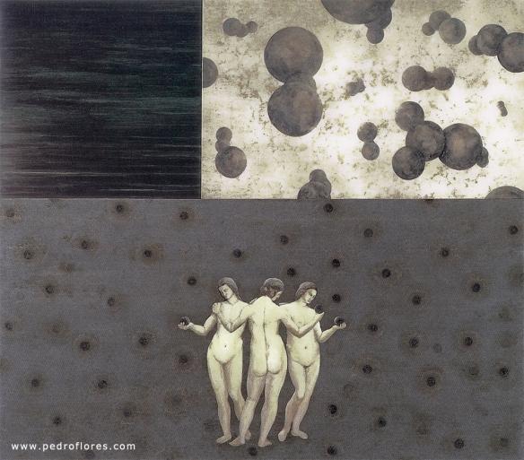 Fluir. Técnica mixta sobre madera. 172x195 cm. Obra en propiedad de Feria de Zaragoza.