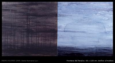 Frontera del paraíso. 60x120 cm.