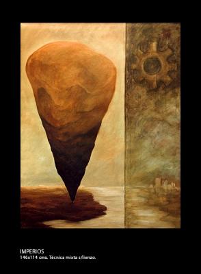 Imperios. Técnica mixta sobre lienzo. 146x114 cm.