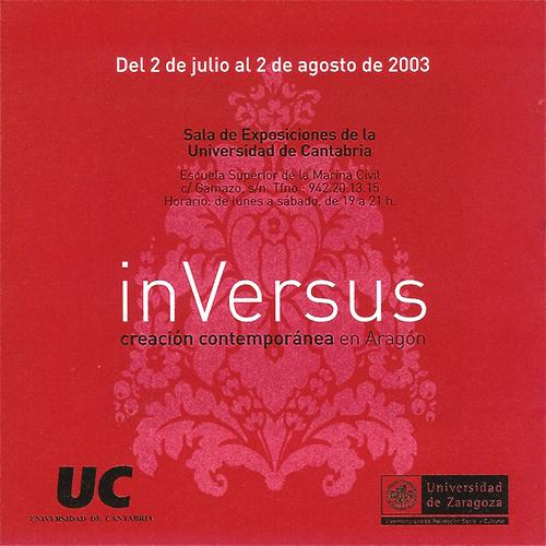 Carte exposición inVersus. Universidad de Cantabria.