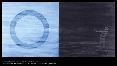 La expulsión del paraíso. 60x120 cm.