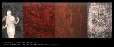 La grieta humana, Eva. 27x83 cm.