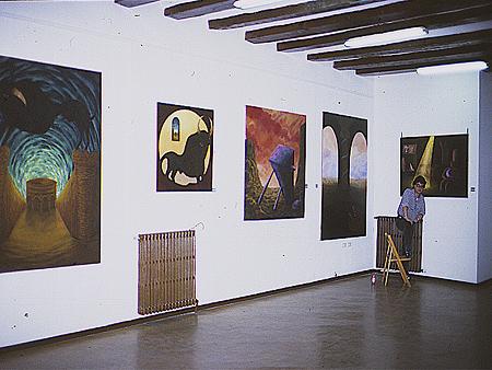 Vista de la exposición Lucernario. UNED Calatayud.