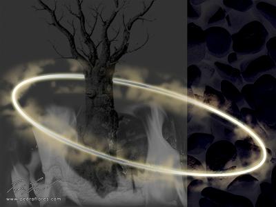 Luz. Collage digital.