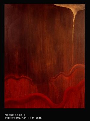 Noche de opio. Acrílico sobre lienzo. 146x114 cm.