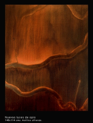 Nuevas luces de opio. Acrílico sobre lienzo. 146x114 cm.