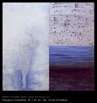 Peregrino manantial. 92x92 cm.