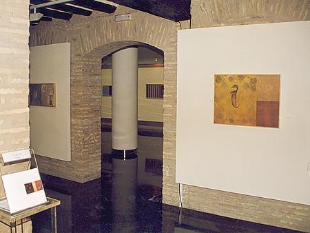 Vista de la exposición Pulsión en Torreón Fortea. Ayto. de Zaragoza.