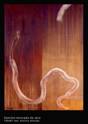 Semilla renovada de opio. Acrílico sobre lienzo. 130x97 cm.