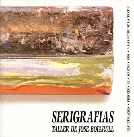 Díptico de la exposición Serigrafias Taller de José Bofarull.