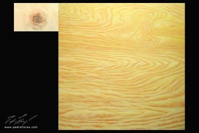 Sublimación. Técnica mixta sobre madera, glicée sobre lienzo. 120x157 cm.