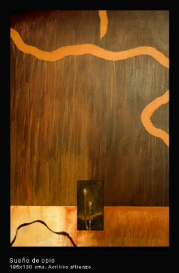 Sueño de opio. Acrílico sobre lienzo. 195x130 cm.