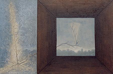 Terral. Técnica mixta sobre lienzo. 100x150 cm. Obra propiedad de Diputación de Zaragoza.