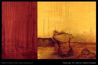 Tierra roja. 75x120 cm.