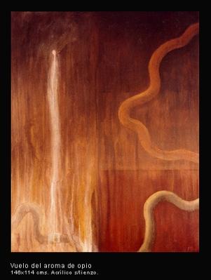 Vuelo del aroma de opio. Acrílico sobre lienzo. 146x114 cm.