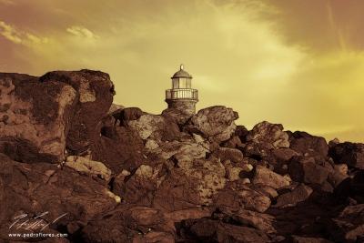 Faro de Punta Pechiguera en Lanzarote.