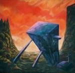 Sepulcro para un pensamiento 1988. 150x150 cms. Acrílico sobre lienzo.