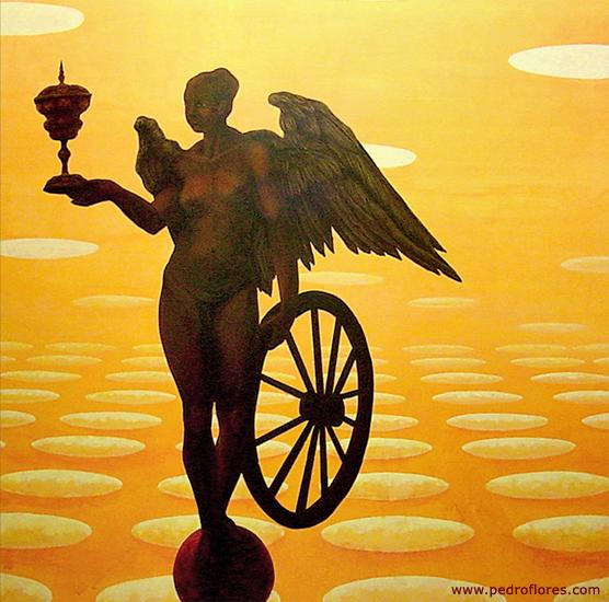 Fortuna, 2002. Acrílico sobre madera. 195x195 cm.
