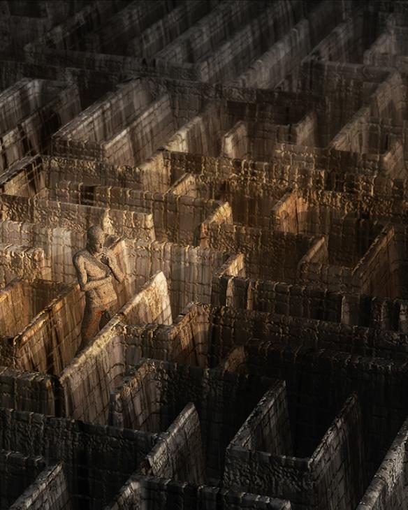 Mi aportación a la muestra: Dédalo 2012. P/A. Infografía 3D. 50x40 cm. impresión glicée sobre papel.