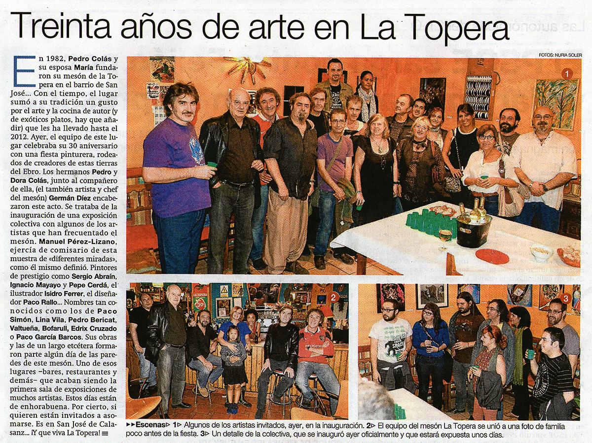 El Periódico de Aragón. La Lupa por Adriana Oliveros. 5/10/2012